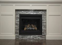backsplash tile around fireplace - Google Search … | Pinterest