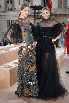 Sofia Sanchez & Olivia Palermo at Valentino Haute Couture Fall 2015 Source:vogue.com