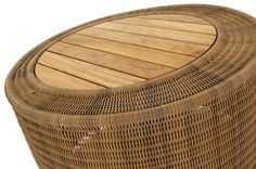 Woven rattan coffee table with solid teak insert for 2012 Contemporary Garden Furniture, Rattan Coffee Table, Modern Fabric, Outdoor Spaces, Teak, Beach House, Outdoor Living Spaces, Beach Homes, Modern Outdoor Furniture