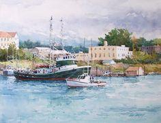 Ian Ramsay. Harbor, Sitka Alaska  \\ watercolor