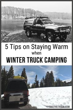 Winter Truck Bed Camping in Cold Weather