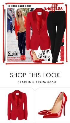 """SheIn"" by eemiinaa ❤ liked on Polyvore featuring Christian Louboutin"