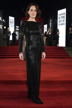 Photo of Michelle Dockery at the British Fashion Awards 2019 in London Michelle Dockery, Sparkly Dresses, Formal Dresses, Formal Wear, British Fashion Awards, Lady Mary, Attractive People, Nicole Kidman, Actor Model