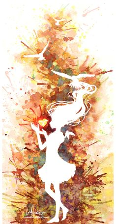 watercolor amazing silhouette