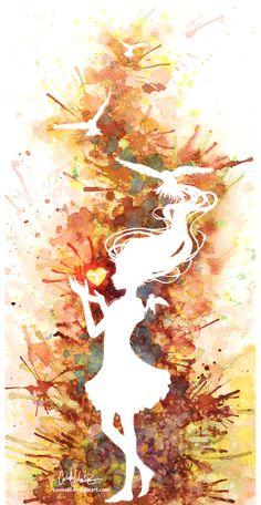 watercolor amazing silhouette