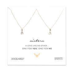 one for you one for me sisters wishbone necklaces #dogeared #sisters