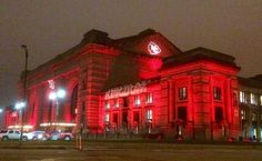 KC Union Station supporting the KC Chiefs!