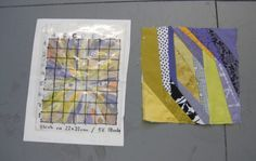 """""""file under fiber"""" gives a great overview of Ursula Kern's methods for sketching a fabric maquette, then enlarging it up to make each block. Fascinating inside view of an artist whose work I admire. #quilting"""