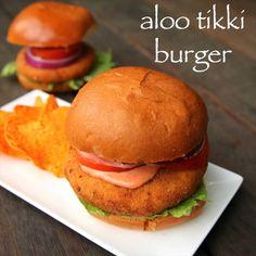 aloo tikki burger recipe, mcaloo tikki recipe, burger tikki recipe with step by step photo/video. burger recipe by fast food chain McDonalds indian market. Pakora Recipes, Paratha Recipes, Chaat Recipe, Veg Recipes, Spicy Recipes, Cooking Recipes, Fast Recipes, Aloo Tikki Recipe, Snacks Recipes