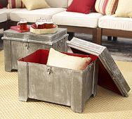 Can be used in so many places and rooms.  The Weatherd look is in and can add contrast to any room.  Galvanized Metal Storage Cubes