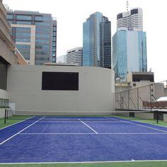 Tennis Court at the Hilton Brisbane Hotel Hotel Reviews, Brisbane, Family Travel, Tennis, Australia, Blog, Family Trips, Blogging, Family Vacations