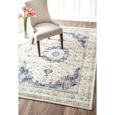 nuLOOM Verona Blue Area Rug & Reviews | Wayfair