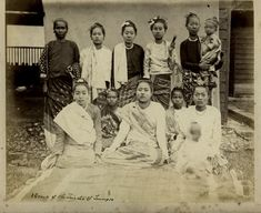 A Group of Young Women - Burma (Myanmar) 1880's