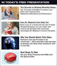 World Renowned Brain Expert Warns: Know These Warning Signs, Protect your brain from memory loss, Alzheimers, Parkinson's and Dementia.