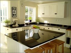 Absolute Black Granite Worktops Island And Splashbacks Decoration Ideas Black Granite For Your Kitchen Islands