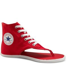 New Converse All Star Light Hi Women Thong Sandals Slip On Sneakers Red  522255 fbdf59ae3