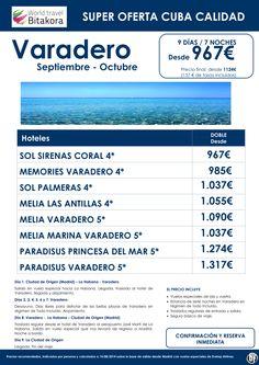 VARADERO: 9 dias con vuelos especiales desde 967€ + 157 de tasas ultimo minuto - http://zocotours.com/varadero-9-dias-con-vuelos-especiales-desde-967e-157-de-tasas-ultimo-minuto/