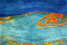 Dune in Zeeland -   Artista: Piet Mondrian (1872-1944) Data da Conclusão: 1910 Estilo: Fauvism Género: landscape Galeria: Solomon R. Guggenheim Museum, New York, USA