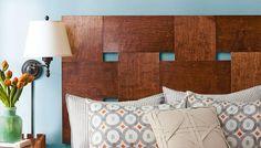DIY woven wood headboard