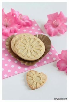 Rosette cookies. Made with a springerle mould. Just love the heart shaped cookie. Just another effect with the same mould.