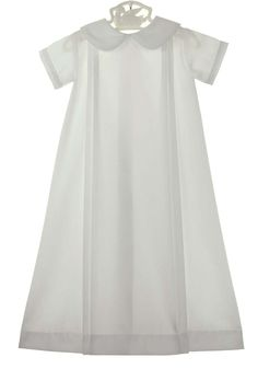NEW Lullaby Set Long White Gown with White Striped Piping $60.00