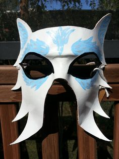 Arctic Wolf Mask  Ready To Ship by BoondockStudios on Etsy, $65.00