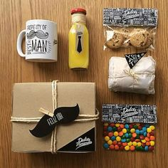 Desayuno fathers - Moto Tutorial and Ideas Fathers Day Gift Basket, Fathers Day Crafts, Happy Fathers Day, Diy Father's Day Gifts, Father's Day Diy, Gifts For Dad, Ok Design, Surprise Box, Dad Day