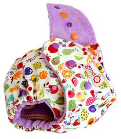 Fruit Punchy One-Size Fitted Diaper with Ultraviolet Dyed Bamboo Velour by thegoodmama.com, via Flickr