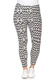 Leggings mit Alloverdruck   sheego Casual Sheego Casual, Damenmode Online,  Bedrucken, Damen Mode f4e1e7ce34