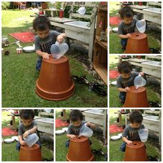 Make a Mud Kitchen - It's a must! Kids Outdoor Play, Outdoor Play Areas, Backyard Play, Outdoor Learning, Outdoor Spaces, Abc Does, Mud Kitchen For Kids, Family Day Care, Outdoor Classroom