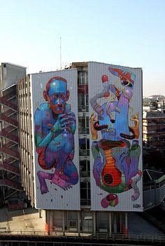 Aryz, Барселона | VIVACITY — Граффити и Cтрит арт