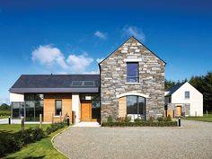 Neubau in der Grafschaft Armagh Bungalow Haus Design, Modern Bungalow House, Bungalow House Plans, Cottage House Plans, Bungalow Ideas, Style At Home, House Designs Ireland, House Outside Design, Modern Farmhouse Exterior