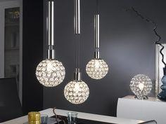 Holly závěsné svítidlo a lampa z chromu / ceiling light Chandelier, Ceiling Lights, Interior Design, Lighting, Pendant, Home Decor, Led, Nest Design, Candelabra