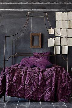 Rosette Quilt, Purple - Anthropologie.com