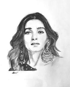 Pencil sketch of Alia Bhatt Drawing Techniques Pencil, Colored Pencil Techniques, Horse Drawings, Art Drawings, Drawing Art, Celebrity Drawings, Anushka Sharma, Aishwarya Rai