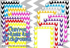 Use these FREE colourful chevron frames and backgrounds to jazz up your products or classroom!Includes:* 8 x PNG file colourful chevron frames* . Chevron Classroom, Music Classroom, School Classroom, Classroom Themes, School Fun, School Stuff, Chevron Frames, Beginning Of The School Year, Teacher Organization