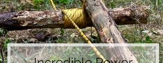 Off-Grid Winch: Incredible Power from Two Logs and a Rope Diy Camping, Camping Hacks, Metal Water Tank, Cool Robots, Simple Machines, Diy Car, Off The Grid, Survival Knife, Home Repair