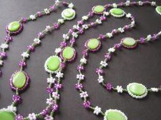 How to Make Bead Woven Necklace Tutorials ~ The Beading Gem's Journal
