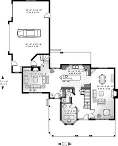 First Floor Plan of Country   House Plan 65476 *dreaming*