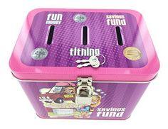 Buy on Amazon: http://www.amazon.com/dp/B006970WYM Girl's 3-Slot Tin Bank for Tithing, Savings Fund, and Fun Money - P42009 Pioneer Plus