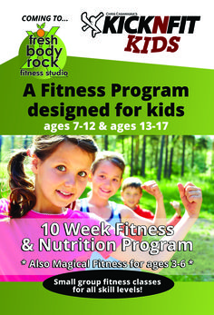 Start your kids NOW.. One of the best Fitness and nutrition programs i have taught! 7-17 years old….. and 3-6 year old program
