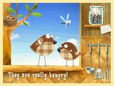 Funny Yummy - Interactive Stories for Toddlers and Kids - 6 interactive scenes: a hedgehog, birds, a mouse, cat, fish and frogs. Appysmarts score: 81/100