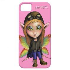 Fairy Aviator iPhone Cover/Case. Artwork by 'Trick!  TricksPlace.com www.zazzle.com/tricksplace* http://www.squidoo.com/super-adorable-cuteness-overload