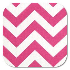 Chevron in Candy Pink/White