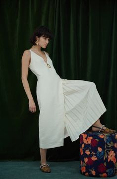 Mother of Pearl Sustainable Clothing, Aw17, Contemporary Fashion, Creative Director, Ready To Wear, Wrap Dress, Women Wear, White Dress, London