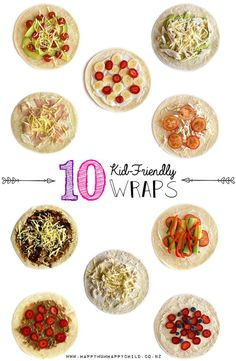 Check out these 10 kid-friendly wraps and you could be in to win an amazing Farrah& prize pack! Healthy Meals For Kids, Healthy Foods To Eat, Quick Easy Meals, Healthy Children, Simple Meals, Children Health, Healthy Snacks, Healthy Eating, Easy Kid Friendly Dinners