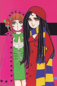 Ichijo Yukari, probably late Japanese Illustration, Fashion Illustration Vintage, Retro Illustration, 60s Art, Retro Art, Vintage Art, Retro Fashion, Jojo Fashion, History Of Manga