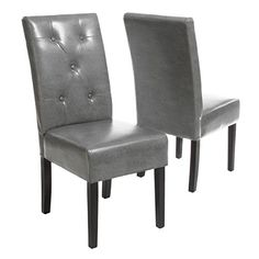 Christopher Knight Home Taylor Grey Bonded Leather Dining Chair (Set of Gray Dining Chairs, Leather Dining Chairs, Upholstered Dining Chairs, Dining Chair Set, Room Chairs, Side Chairs, Dining Room, Office Chairs, Accent Chairs