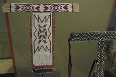 https://flic.kr/p/b7UZgB | T-necklaces | Western Apache, T-necklace, 1960s (left); Western Apache, Beaded T-necklace, 1900-1920 (right)
