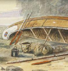 Paddle Making (and other canoe stuff): Historic Paddle Illustration: Frances Ann Hopkins - Explorer's Camp